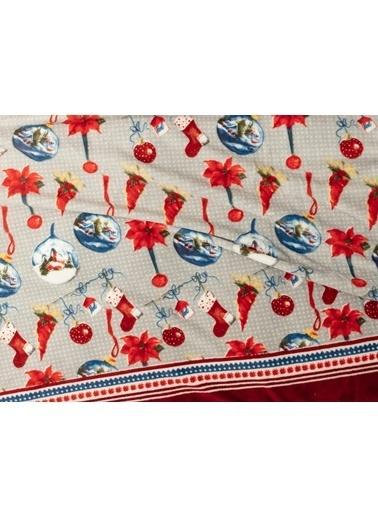 Madame Coco Claire Wellsoft Baskılı Çift Kişilik Battaniye Kırmızı